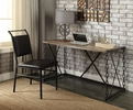 Jodie Black PU Leather/Antique Black Metal Office Chair by Acme