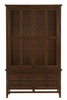 Frazier Park Brown Cherry Wood Buffet with Hutch by Homelegance