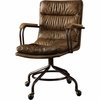 Harith Vintage Brown Top Grain Leather Executive Office Chair by Acme