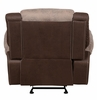 Chai 2-Tones Brown Fabric/PU Leather Manual Recliner by Homelegance