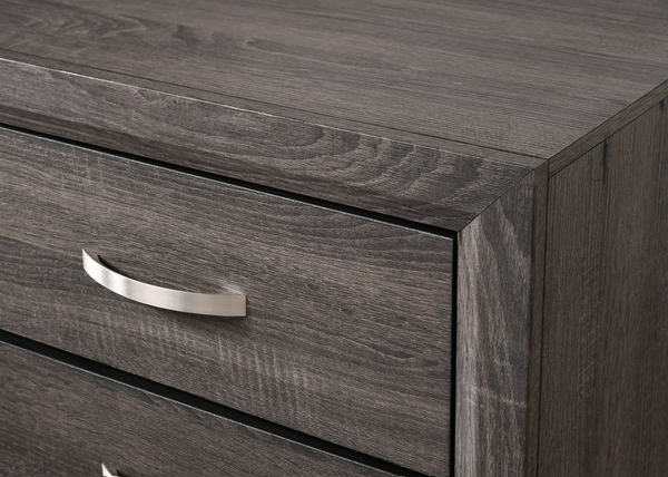 Akerson Grey Wood 2-Drawer Nightstand by Crown Mark