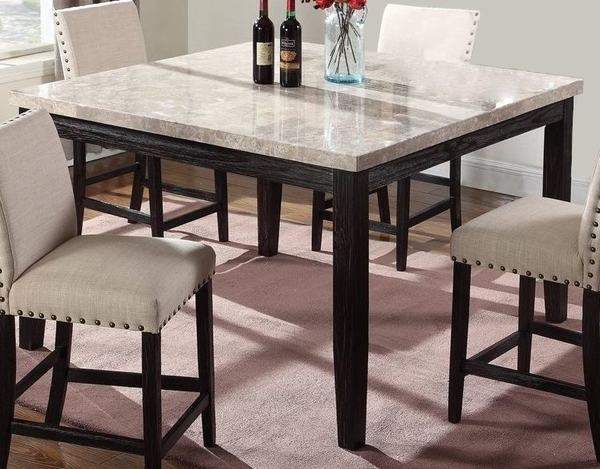 Laureta Greystone Marble Counter Height Table by Best Master Furniture