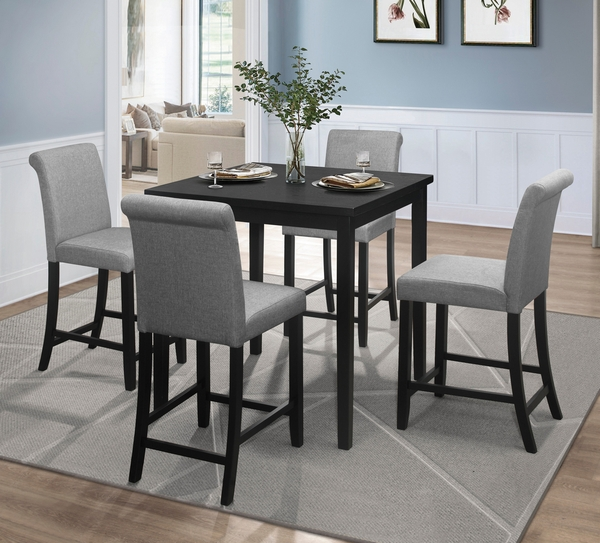 Adina Black Wood Square Counter Height Table by Homelegance