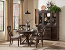 Cardano Driftwood Charcoal Wood Buffet with Hutch by Homelegance