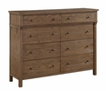 Inverness Reclaimed Oak Wood Dresser with 8 Drawers by Acme