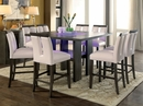 Luminar Gray Wood/Glass Counter Height Table by Furniture of America