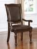 Alpena 2 Brown Cherry Wood Arm Chairs by Furniture of America
