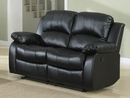 Cranley Black Faux Leather Manual Recliner Loveseat by Homelegance