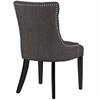 Regent Brown Fabric/Wood Side Chair by Modway