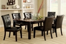 Boulder 2 Black Leatherette/Wood Side Chairs by Furniture of America