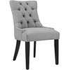 Regent Light Gray Fabric/Wood Side Chair by Modway