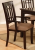Central Park 2 Antique Oak Wood Arm Chairs by Furniture of America