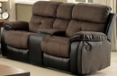 Hadley I Brown Manual Recliner Loveseat by Furniture of America