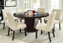 Cimma Contemporary 2 Ivory Fabric Side Chairs by Furniture of America