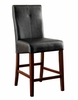 Bonneville 2 Black Counter Height Chairs by Furniture of America