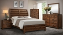 Curtis Rustic Finish Wood 2-Drawer Nighstand by Crown Mark