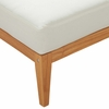 Northlake Natural Wood/White Fabric Outdoor Patio Ottoman by Modway