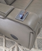 Signature Design Boerna Gray Leather Power Recliner by Ashley