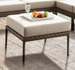 Aleisha Gray Faux Wicker/Beige Fabric Ottoman by Furniture of America