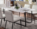 Alisha White Wood/Black Metal Dining Table by Furniture of America