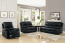 Greeley 3-Pc Black Leather Manual Recliner Sofa Set by Homelegance