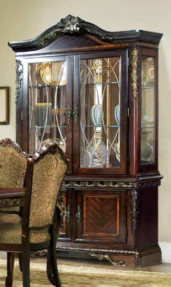 Patti Brown Wood Curio with Hutch by McFerran Home Furnishings