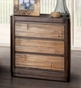 Covilha Antique Brown Wood Nightstand by Furniture of America