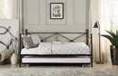 Jones Contemporary Black Metal Twin Daybed with Trundle by Homelegance