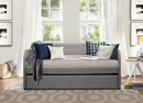 Roland Gray Fabric Twin Daybed with Trundle by Homelegance