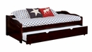 Sunset Espresso Wood Twin Daybed with Trundle by Furniture of America