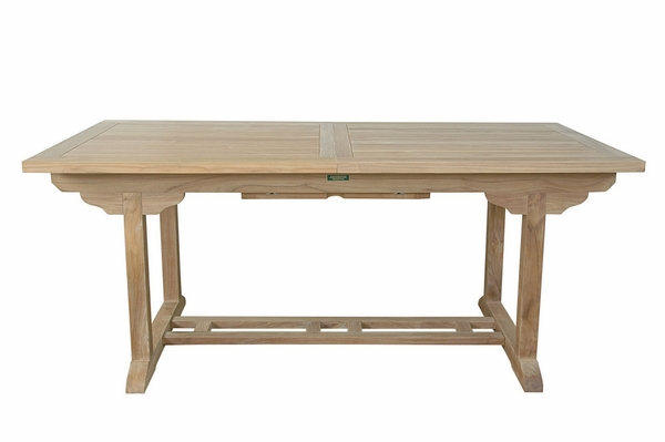 Bahama Natural Wood Rectangular Extension Table by Anderson Teak