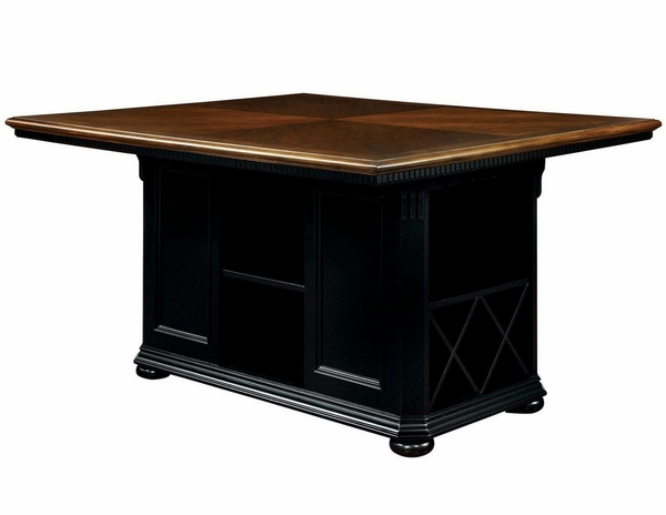Sabrina Cherry & Black Counter Height Table by Furniture of America