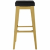 Arrive Black Velvet/Gold Metal Counter Height Stool by Modway