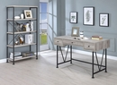 Analiese Grey Driftwood Wood/Black Metal Bookcase by Coaster