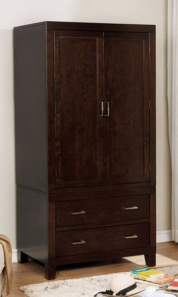 Enrico Espresso Wood Armoire by Furniture of America