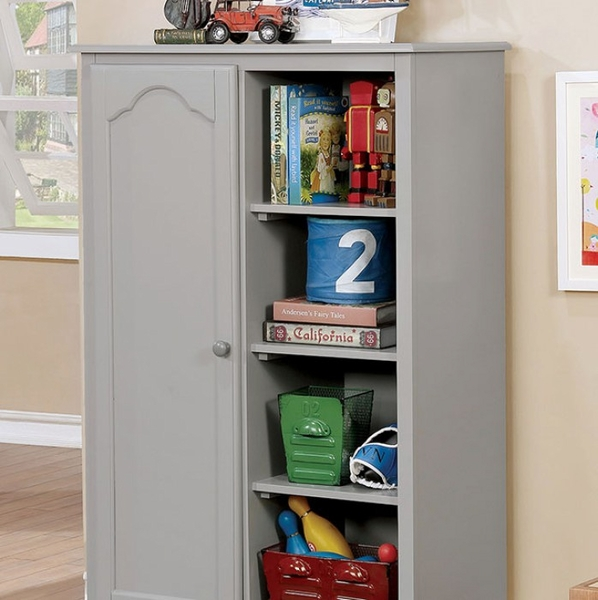 Diane Gray Solid Wood Closet Storage by Furniture of America