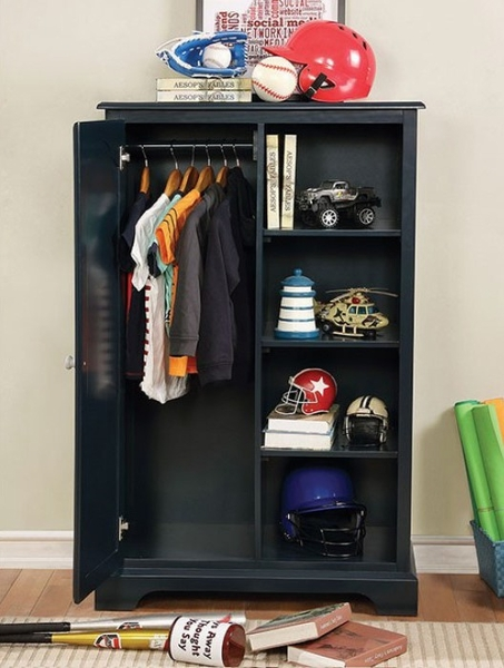 Diane Blue Solid Wood Closet Storage by Furniture of America