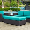 Convene Espresso/Turquoise Outdoor Patio Bench by Modway