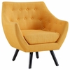 Allegory Mustard Fabric/Wood Arm Chair by Modway