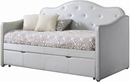 Dillane Pearlescent Grey Leatherette Upholstered Daybed by Coaster