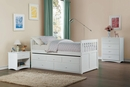 Galen White Wood Chest by Homelegance
