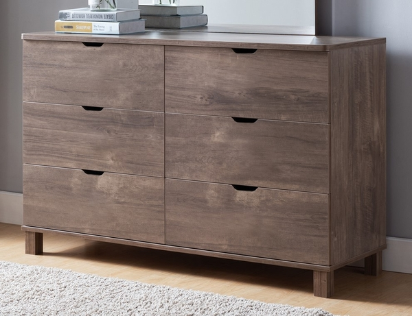 Essence Hazelnut Wood 6-Drawer Dresser by ID USA