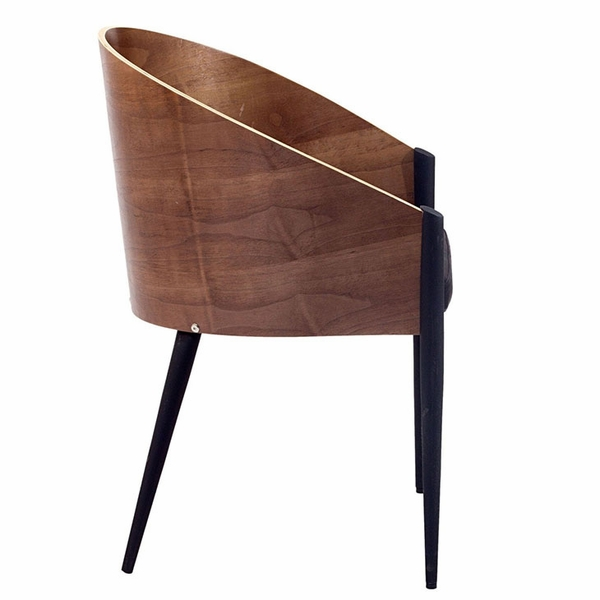 Cooper 2 Walnut Wood/Vinyl Dining Arm Chairs by Modway