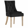Pose Black Velvet Fabric/Wood Side Chair by Modway