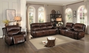 Mahala Brown Power Recliner Loveseat with Console by Homelegance