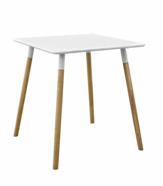 Continuum White Wood Square Dining Table by Modway
