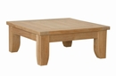 Luxe Natural Finish Smooth Well Sanded Ottoman by Anderson Teak
