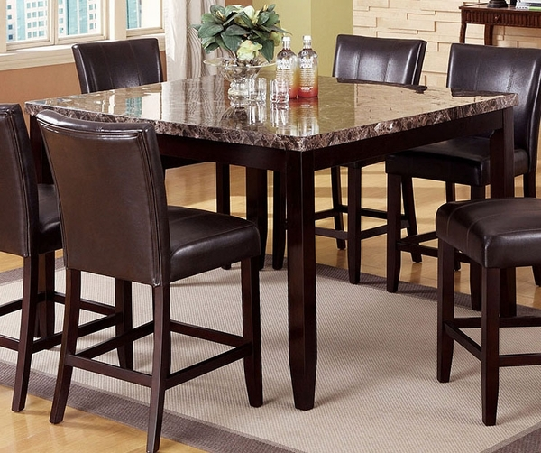 Ferrara Counter Height Table w/ Faux Marble Top by Crown Mark