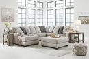 Benchcraft Ardsley 4-Pc Pewter Fabric LAF Sectional Sofa by Ashley