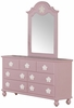 Floresville Pink Wood 7-Drawer Dresser by Acme